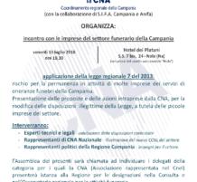 Incontro con le imprese del settore funerario della Campania