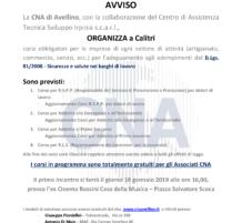 Corsi D.Lgs. 81/08 Calitri